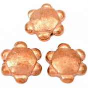 Flower Disc Beads Copper Plated Beading 15mm Approx 3