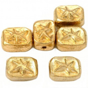 15g Star Rectangle Beads Gold Plated 11mm Approx 6