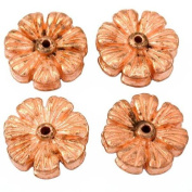 Flower Disc Beads Copper Plated Beading 16mm Approx 4