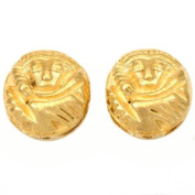 Bali Monkey Beads Gold Plated Round 16.5mm Approx 2