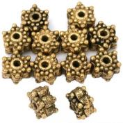 16g Star Bali Beads Antq Gold Plt Beading 8mm Approx 12
