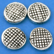 Round Beads Antique Silver Plated Beading 16mm Approx 4