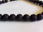 Lava round beads 10mm, sold per 16-inch strand.