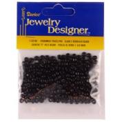 "6/0 Glass ""E"" Beads, Black, 20 Gramme Pkg"