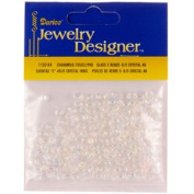 "6/0 Glass ""E"" Beads, Crystal AB, 20 Gramme Pkg"