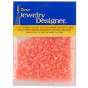 10/0 Seed Beads, Inside Rainbow, Peach, 20 Gramme Pkg
