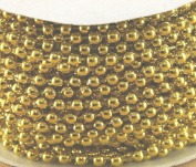 4mm Faux Pearl Plastic Beads on a String Craft Roll Metallic Gold