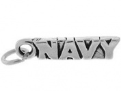 Sterling Silver Navy Charm
