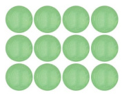 Lime Green Opal Czech Glass Round Beads 10mm