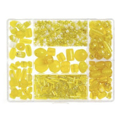 Darice® Jewellery Designer Big Value Glass Bead Box Assortment - Yellow
