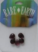 5 Pc - 9x12mm Drop Amethyst Beads - Rare Earth - 33013-04