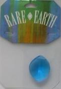 1 pc - 24x30mm Leaf Turquoise/Blue - Rare Earth - 33007-06