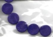 "6 pc 10MM Rec. Lapis 2.4"" Disc Beads - Semi-Precious by Cousin - #25814-12"