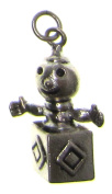 Charm Gallery 77183 Silver Plated Jack in the Box Charm