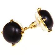 Bubble Stud Earrings Black