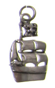 Charm Gallery 77187 Silver Plated Sail Boat Charm