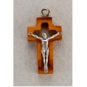 Olive Wood Crucifix Pendant