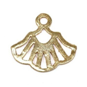 Stones and Findings Exclusive Gold Vermeille Gingko Charm