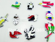 Birds Owls Parrots Mixed Lot Charms - Lot of 15 - DIY Jewellery Crafting 8mm