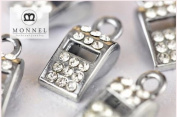 M43 Wholesale 10 PCS Cute Crystal Whistle Pendant Charm
