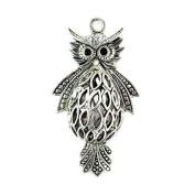 3 Pcs Per Lot Super Cute Alloy Owl Pendants Accessories for Diy, Pt-386