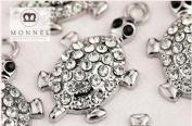 M26 Wholesale 10 PCS Adorable Crystal Turtle Sea Animal Pendant Charm
