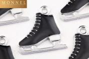 M10 Wholesale 10 PCS Cute Cute Black Skate Shoe Pendant Charm