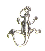 Charm Gallery 77250 Silver Plated Western Lizard Charm