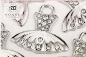 M36 Wholesale 10 PCS Cute Crystal Dancing Ballet Dress Pendant Charm
