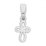 11x8mm Extra Small Cut Out Cross Charm .925 Sterling Silver