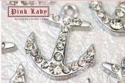 M29 Wholesale 10 PCS Cute Crystal Sea Boat Anchor Pendant Charm
