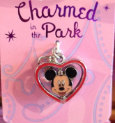 Disney Parks Charmed in the Park Mickey Mouse Heart Charm Lobster Claw NEW
