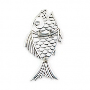 3 Pcs Per Lot Super Cute Charming Fish Alloy Pendant for Diy, Pt-389
