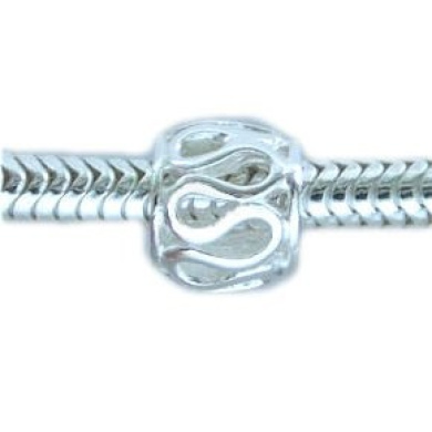 INFINITY Spacer Sterling Silver Charm Bead for Troll Biagi European Charm