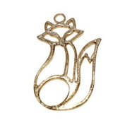 Stones and Findings Exclusive Gold Vermeille Fox Charm