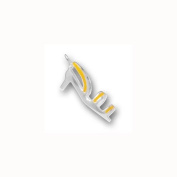 Charm Factory Stirling Silver High Heel Shoe with Yellow Straps