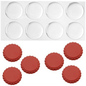 New Red Crown Bottle Caps with 2.5cm Circle Epoxy Stickers