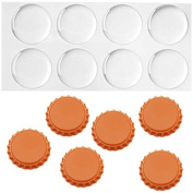New Orange Crown Bottle Caps with 2.5cm Circle Epoxy Stickers