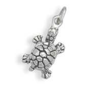Tiny Turtle Sterling Silver Charm, Made in the USA