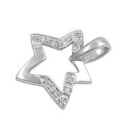 Sterling Silver CZ Pendant - Star