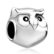 Silver Plated Pugster Cute Harry Potter Fan Owl Animal Brands - Charm Fits Pandora Bead Bracelet