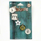 """Blue Moon Beads Tokens 5 Pc Metal Charms """"Amore"""""""