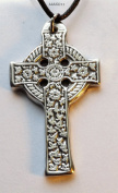 Celtic Floral Cross- Pewter Pendant - Celt Christian Jewellery
