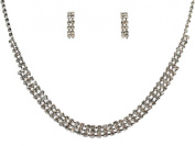 Crystal Necklace Set for Bridal Wedding Prom Pageant N1Y47