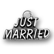 Just Married Sterling Silver Wedding Charm