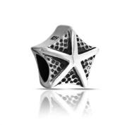 Bling Jewellery 925 Sterling Silver Nautical Starfish Bead Chamilia Pandora Charm Compatible