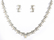 Crystal Necklace Set for Bridal Wedding Prom Pageant N1Y76