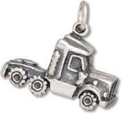 Sterling Silver Truck Charm with Split Ring - Item #9429