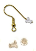 *Fancy Style* -Easy to Grab- Rubber Ear Nuts- Clear Earring Safety Backs