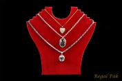 Regal Pak ® Red Flocked Cardboard Necklace Stand 23cm X 24cm H